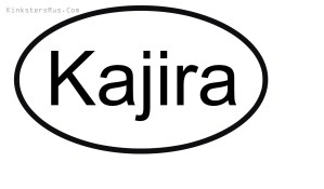 kajira Oval Vinyl Decal