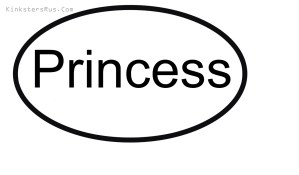 Princess Oval Vinyl Decal