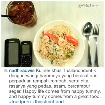 """""""happy life comes from happy tummy, happy tummy comes from great food"""" what a great quote and we are so honored for your review @nadhiradwis"""