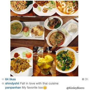 Weekend is here, time to meet up and spend quality time and food with family and friends. Look at the variety of Thai Food ordered by @shindyshii ... There's larb-gai chicken salad, PhadThai noodle, Kwetiao TomYum Seafood, Green Curry Rice, chicken wing, TomYum Rice, Phad See-ew Kwetiao Goreng Thai, Fresh Mango IceCream and Rad-Na Kwetiao Siram / HorFun Thailand. thank you so much for sharing and loving our food... Bring your friends, order more, share and taste authentic Bangkok Street Food