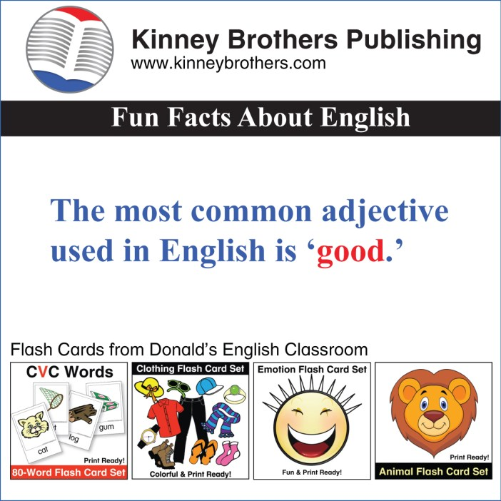 Fun Facts About English 5 Kinney Brothers Publishing