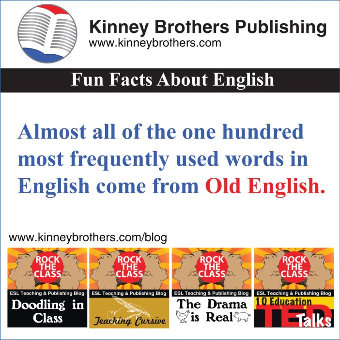 Fun Facts About English 16 Kinney Brothers Publishing