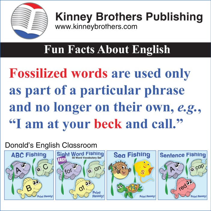 Fun Facts About English 52 Kinney Brothers Publishing