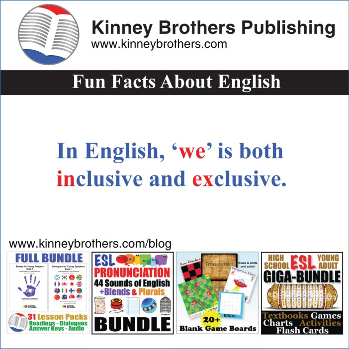 Fun Facts About English 61 Kinney Brothers Publishing