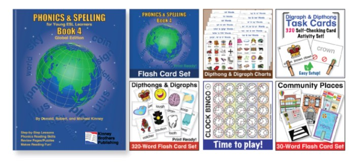 Phonics and Spelling Book 4 Kinney Brothers Publishing