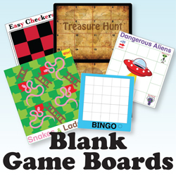Kinney Brothers Publishing Blank Game Boards