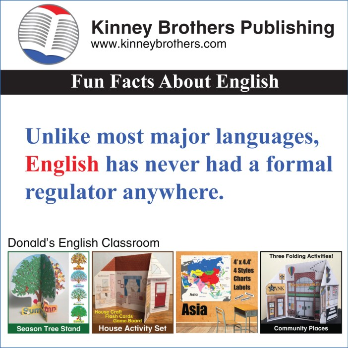 Kinney Brothers Publishing English regulators language academies