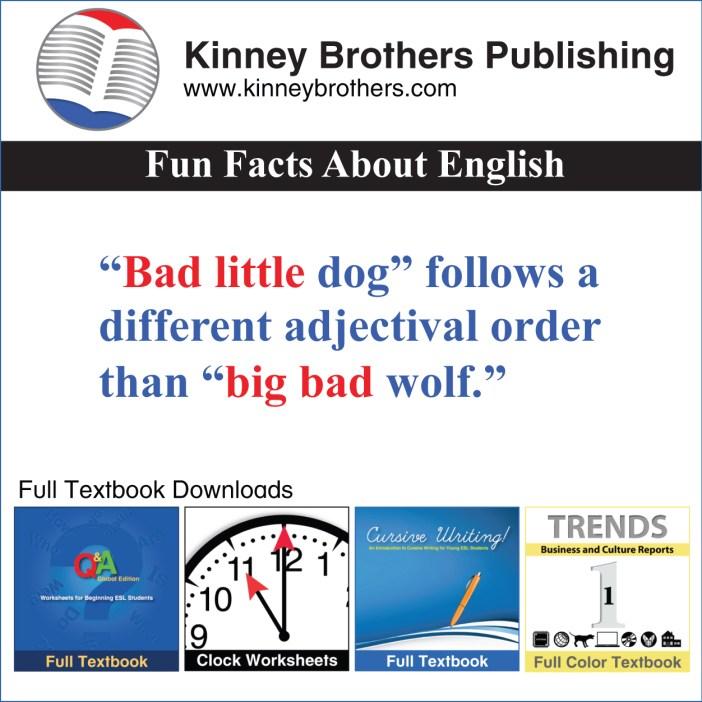 ablaut reduplication Kinney Brothers Publishing