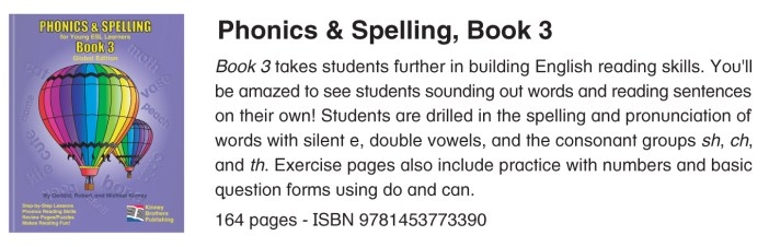 Phonics & Spelling, Book 3 Kinney Brothers Publishing