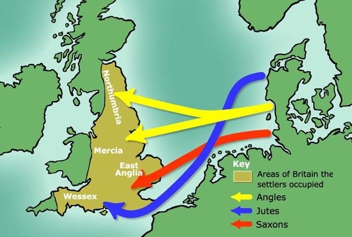 Anglo Saxon invasions