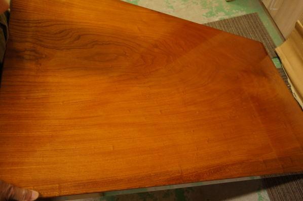 ケヤキテーブル天板