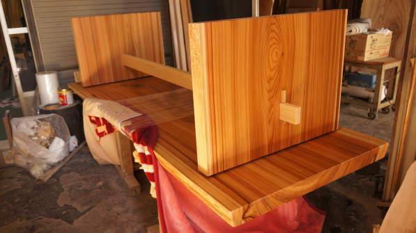 杉一枚板ダイニングテーブル脚