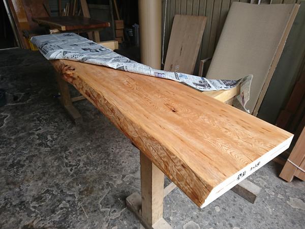 天然木一枚板カウンター