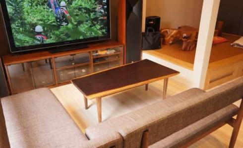 ウェンジ一枚板センターテーブル