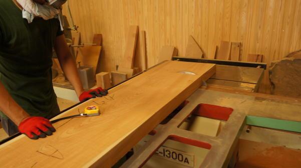 木の板加工