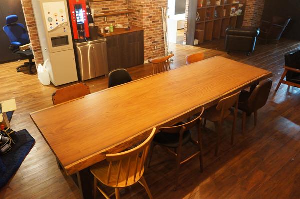 一枚板オフィステーブル
