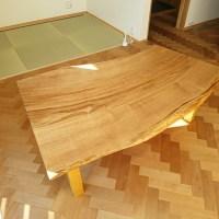 栗の木一枚板テーブル
