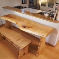一枚板カウンターテーブル