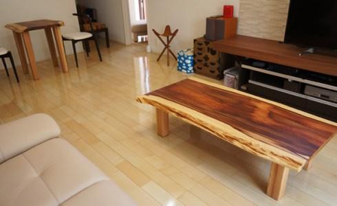 霧島杉一枚板テーブル