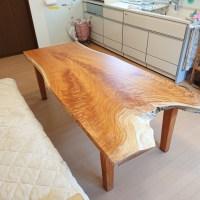 ケヤキ変形一枚板テーブル