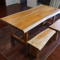 無垢天然木テーブル