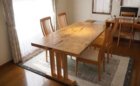 一枚板テーブル仕上げ直し