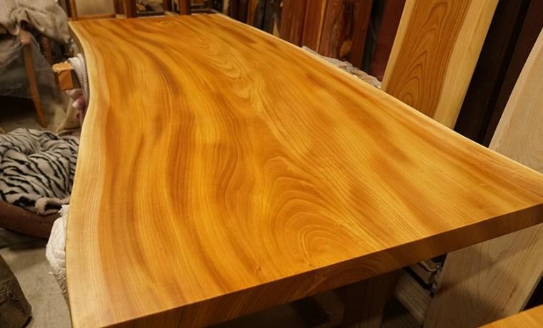 ケヤキ無垢一枚板ダイニングテーブル天板