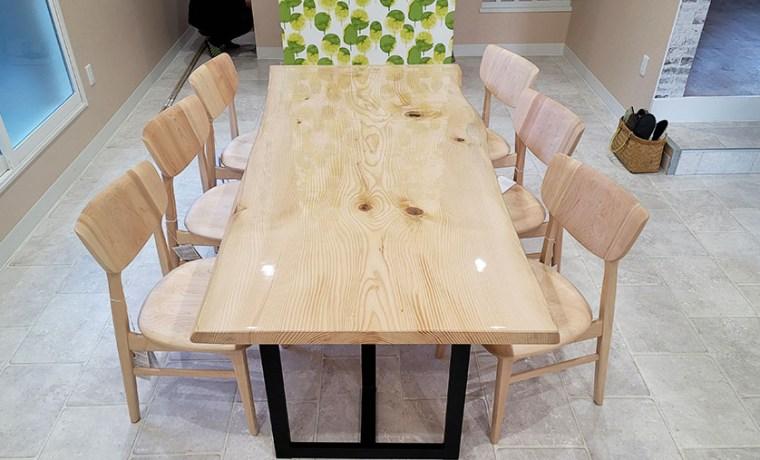 無垢一枚板会議テーブル