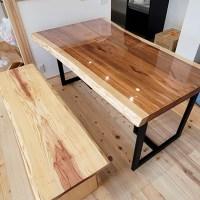 杉一枚板ダイニングテーブルセット