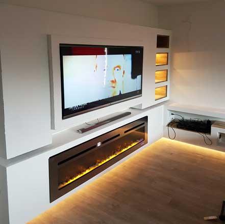 fabriquer un meuble tv avec bandeau led