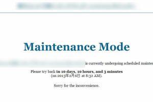 ワードプレスプラグインMaintenance Mode