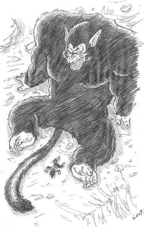 ドラゴンボールの絵 大猿vsべジータ