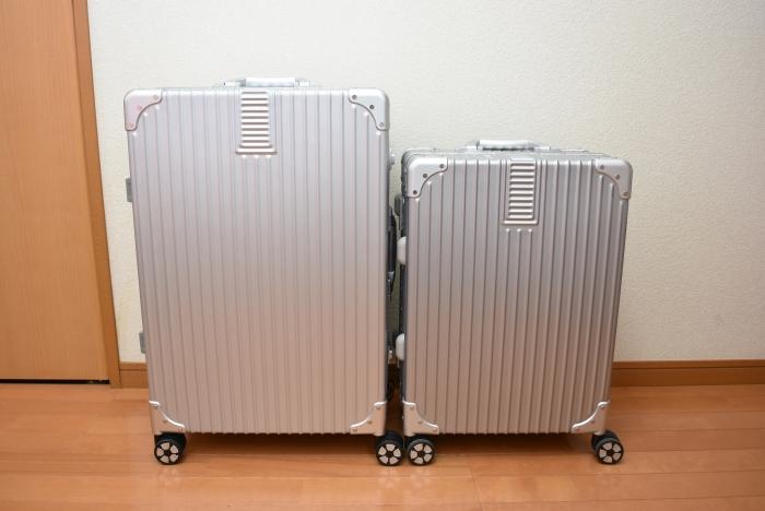 タビトラのスーツケースMサイズとSSサイズ比較