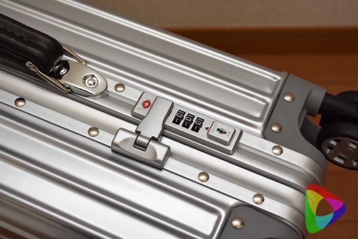 リモワ風クローススーツケースのロック