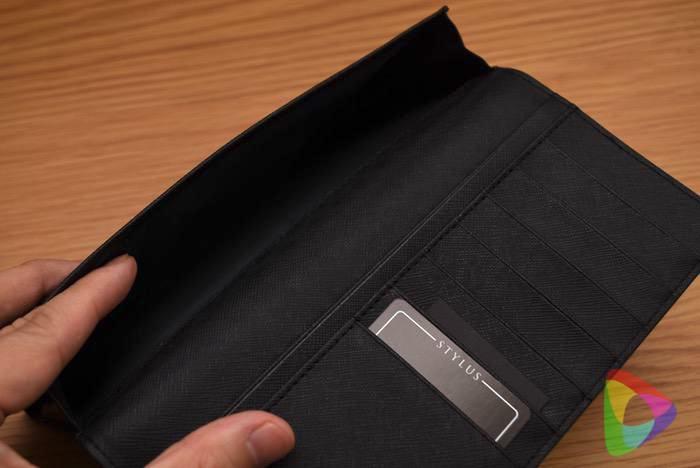 ストラスの長財布(ブラック)