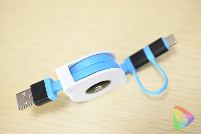 巻取り式USBケーブルCHE-256