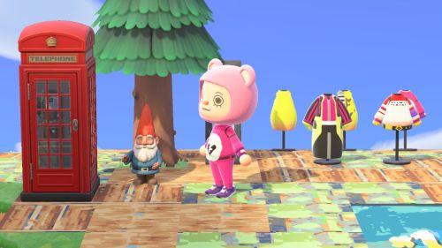 【あつ森】マイデザイン:フォートナイト「ピンクのクマちゃん」の服