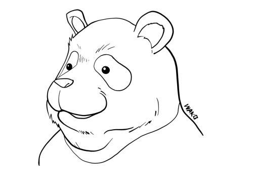 パンダ先輩 塗り絵