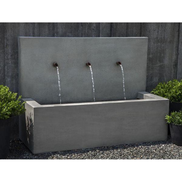 Lightweight Outdoor Long Beach Wall Fountain Gfrc Kinsey