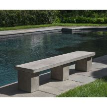 Cast Stone Biscayne Outdoor Modern Bench Kinsey Garden Decor