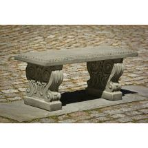 Classic Outdoor Cast Stone Bench Seating Kinsey Garden Decor