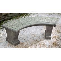 Leaf Curved Garden Bench Stpne Patio Furniture Kinsey