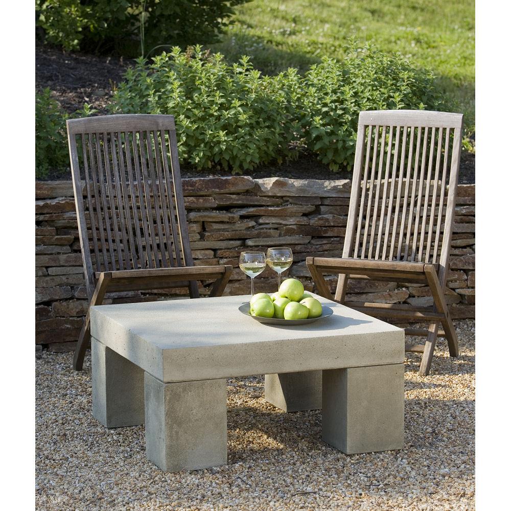 stone modular seating patio table