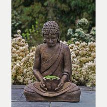 Serene Asian Lotus Buddha Outdoor Planter Kinsey Garden Decor