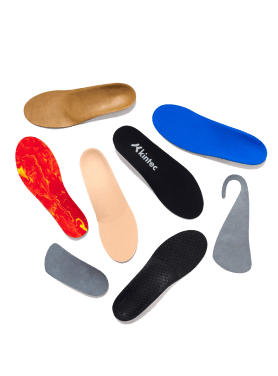 Custom orthotics made by foot specialists at Kintec