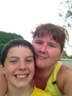 Christi with her son, Andrew.