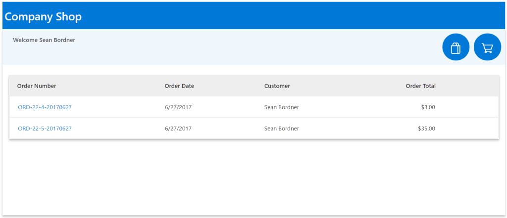 Kintivo Cart for SharePoint Online - Order History