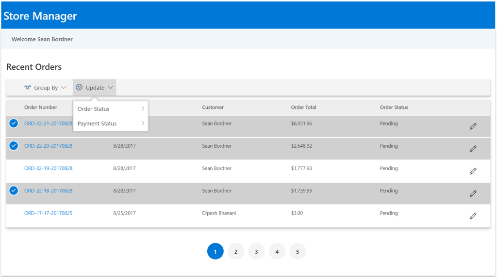 Kintivo Cart for SharePoint Online - Manage orders quickly in one place.