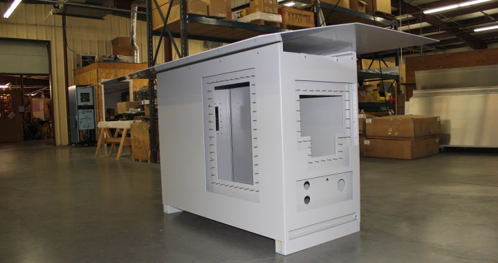 Custom metal cabinet as supplied to the UT EE Dept.