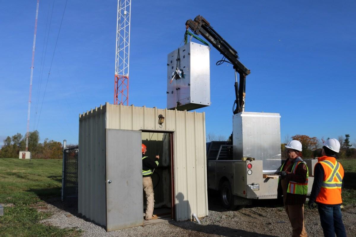 CJMR-CJYE: Lowering cabinets into ATU Buildings